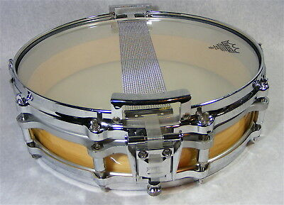 """Early Vintage Pearl """"Free Floating System"""" 10 Lug Maple Snare Drum"""