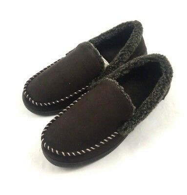 d9357ed3619aed DEARFOAMS MENS SLIPPERS Brown Memory Foam ~ Various Sizes Condition ...