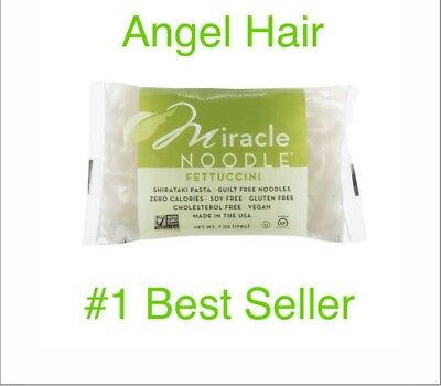 Miracle Noodle Shirataki Pasta Angel Hair 7 Ounce Pack Of 6