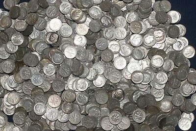One Roll 90% Silver Roosevelt Dimes (50 Coins) 1946-1964   Lot L24