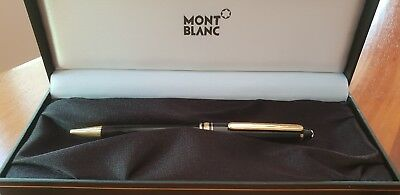 Montblanc Meisterstruck black and gold trim ball point pen