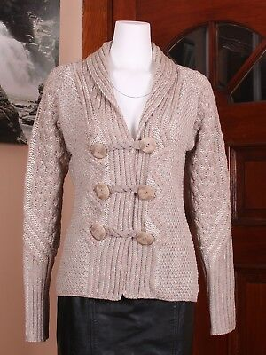 Shawl Neck Two Tone Merino Cardigan Xs 100 Merino Wool Aran Sweater Market