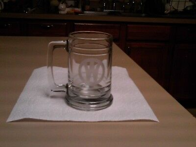Glass Stein Acid Etched The Mountaineer Limited And A  W Inside An O  Railroad S