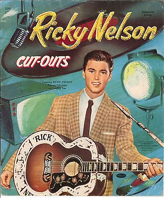Vintage Uncut 1959 Ricky Nelson Paper Dolls ~Whitman~Org Sz~Laser Reproduction