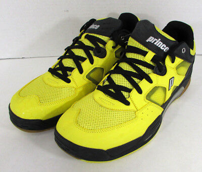 Prince Mens NFS Attack Squash Sneaker Shoes, Yellow/Black, US 15