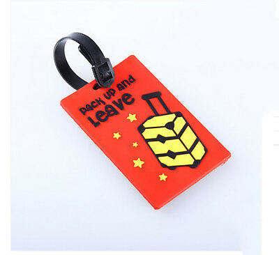 New Cartoon Travel Luggage Suitcase Bag Label Straps Name Address ID Tags C#