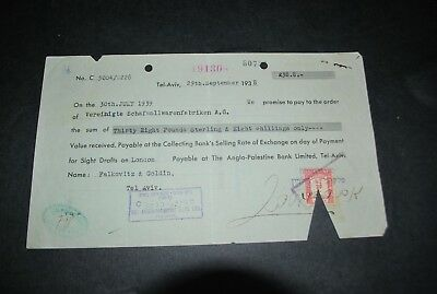 Old document PALESTINE The Anglo Palestine Bank 1938