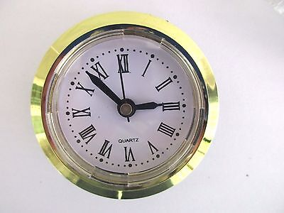 "Quartz 50mm (2"") Diameter Insert Clock Fit-Up Mechanism Roman Numbers"