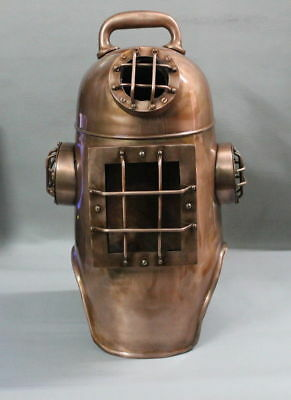 "Vintage Antique U.S Sea Navy Boston Diving Divers Helmet 18"" Deep Scuba Deep"