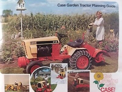 Case 446 444 224 220 118 644 646 Lawn Garden Tractor COLOR Sales Brochure 1975