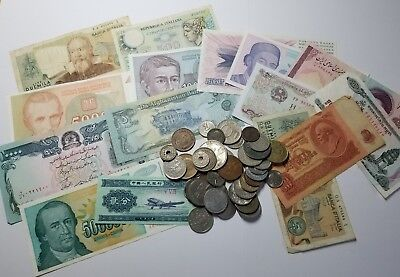 World Currency Paper Lot And World Coin Combo#110