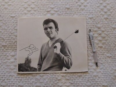 Tony Jacklin Signed Photograph - Size 8 Inches By 10 Inches - Black & White