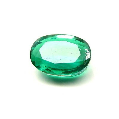 6.1Ct Green Emerald Quartz Doublet Oval Faceted Gemstone