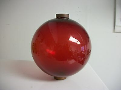 6.5'' RED GLASS BALL for weathervanes OR LIGHTENING RODS