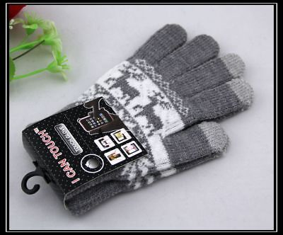 Men Women Touch Gloves Winter Knitted Gloves Touch Screen Keep Warm Full Finger