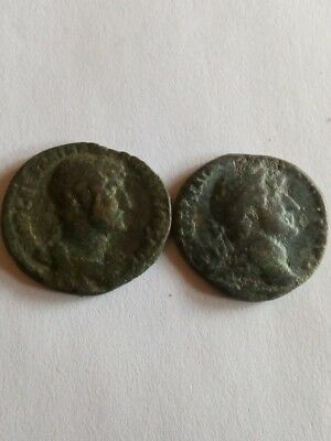 065.Lot of 2 Ancient Roman AS Bronze Coins,Hadrianus 2X