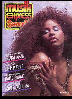 MUSIK EXPRESS Sounds  Nr.2   1985  :   Deep Purple   Chaka Khan   David Byrne
