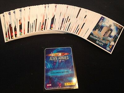 Doctor Who Alien Armies Trading cards Panini - 52 all different