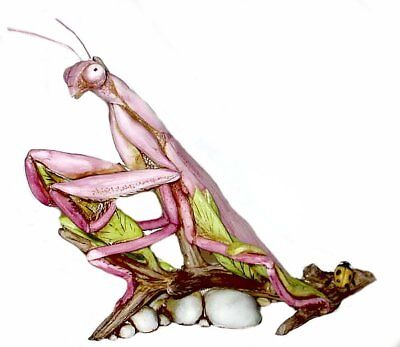 Harmony Kingdom Art Neil Eyre Designs insect Praying Mantis Pink LE50