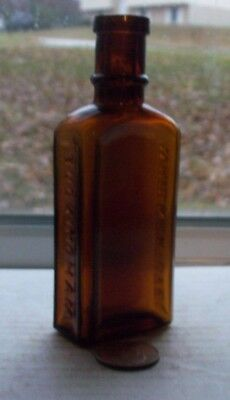 Victorian Dye Bottle Embossed, Whisker Dye, Buckingham