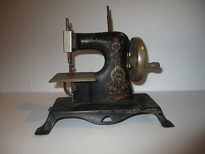 Toy child's  sewing machine 1920's full body model CASIGE Germany Art Nouveau