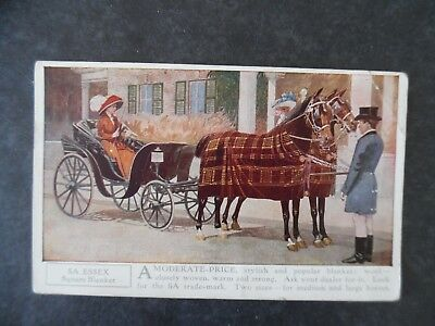 ca1910 5A Horse Blankets Illustrated Advertising Postcard