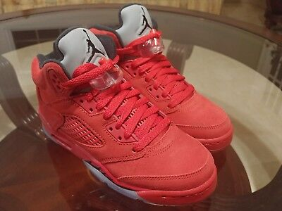 Nike Air Jordan 5 Retro University Red Suede Size 4Y