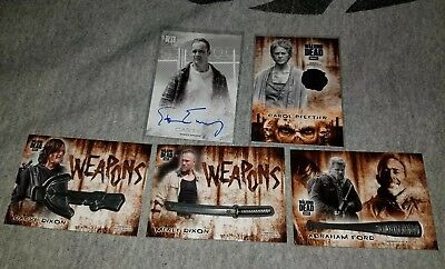 2018 Topps Walking Dead Hunters & Hunted 5 Card Relic and Auto Lot 4 of 5 #/99💥