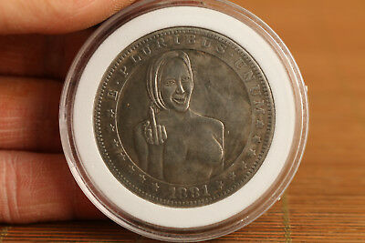 Copper plate-Silver belle girl collectable coins valuable decor