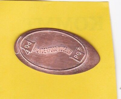 Elongated Coin WONDERFOOD MUSEUM / PENANG MALAYSIA Pressed Penny Quetschmünze (1