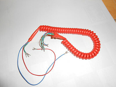 Telephone Orange  Vintage S63 Ptt Socotel // Cordon Orange  Spirale  Neuf