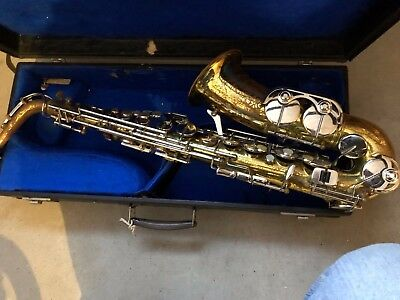 B & M Champion Alto Saxophone in case. Plays well and looks great.