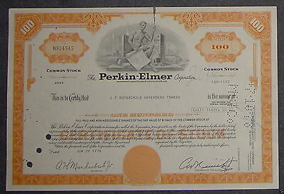 The Perkin-Elmer Corporation 1978 100 Shares