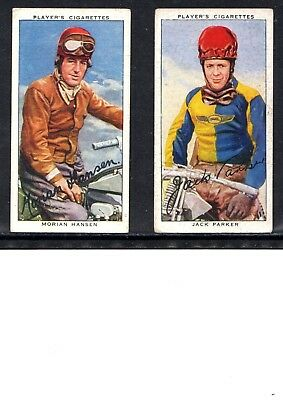 Very Early Motor Cycle Cigarette Cards, 2 Different Cards, Hansen And Parker