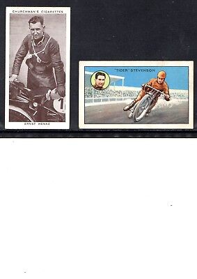 Very Early Motor Cycle Cigarette Cards, 2 Different Cards, Henne And Stevenson