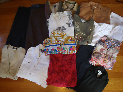 LOT of 16 SIZE 14 LARGE LADIES BUSINESS ATTIRE, JACKETS, BLOUSES, SKIRTS, VESTS