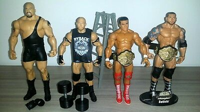Lotto 4 Wwe Mattel Wrestling Action Figures Big Show Del Rio Batista Ryback