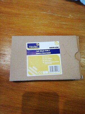 NEWLEC NLRCB1630C - 16a 30mA Type C Single Pole RCBO NEW IN BOX