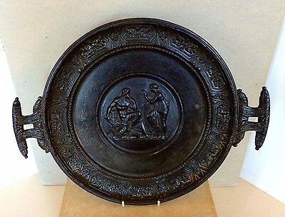 Berlin Ironwork Neoclassical Decorative Tazza Dish Charger German c.1830's-1850