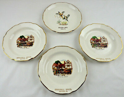 Advertising Plate Set of 4 Graybill Bros Refton PA - Old Coach House Woolhampton