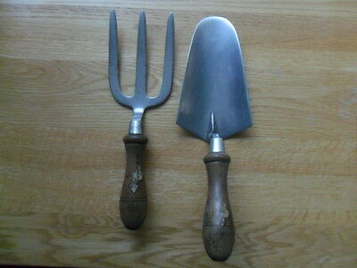 Vintage Spear & Jackson Stainless Steel Hand Fork And Trowel Gardening Tools