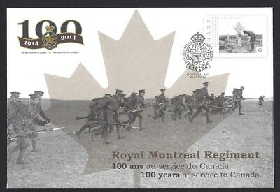 Canada   S104   Special Royal Montreal Regiment Cover    New 2014 Unaddressed