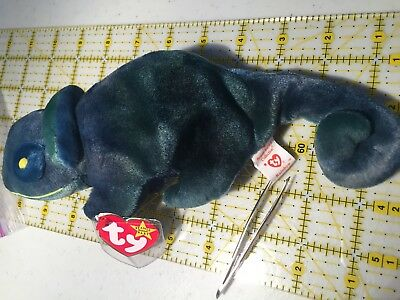 MINT Rainbow Chamelon Ty Beanie Babies Baby ST 5th TT 6th PE China