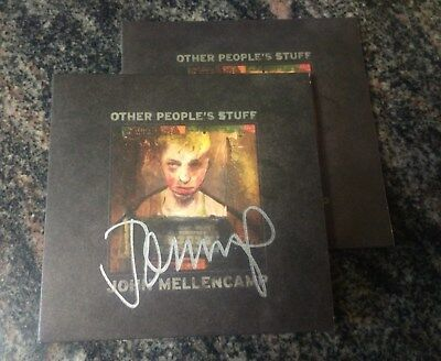 Autographed John Mellencamp Other People's Stuff CD Signed cougar SILVER