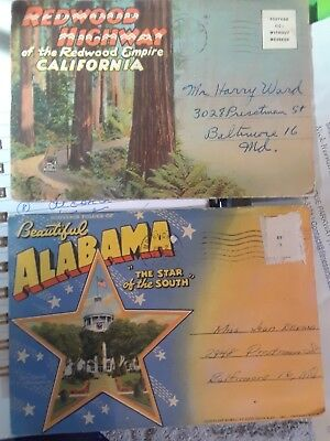 Over 120 Antique Postcards and Souvenir Folders - Mostly US Locations