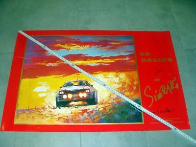 Orig. Rallye by Simballi Limited Edition Art Poster Audi quattro signed Röhrl