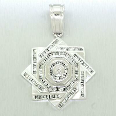 Men's Vintage Estate 14k  White Gold 3.00ctw~ Diamond Khatim-Sulayman Pendant