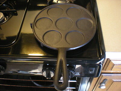 Old Unmarked Cast Iron Swedish Cake Pan, Restored Condition