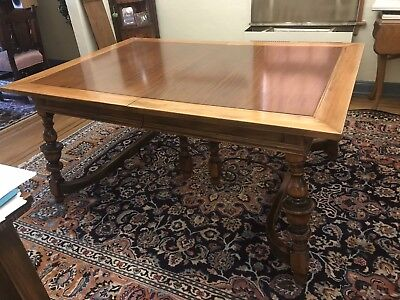 Magnificent Antique Dining Table w chairs, leaves and extras