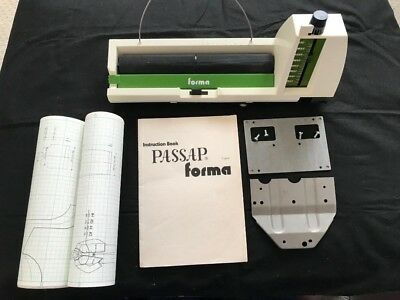 Passap Knitting Machine Duomatic 80 Forma Reader With Brackets And Patterns
